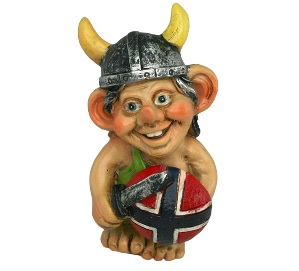 Image of Viking with flag shield and sword