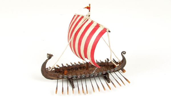 Image of Viking ship with dragon head,small