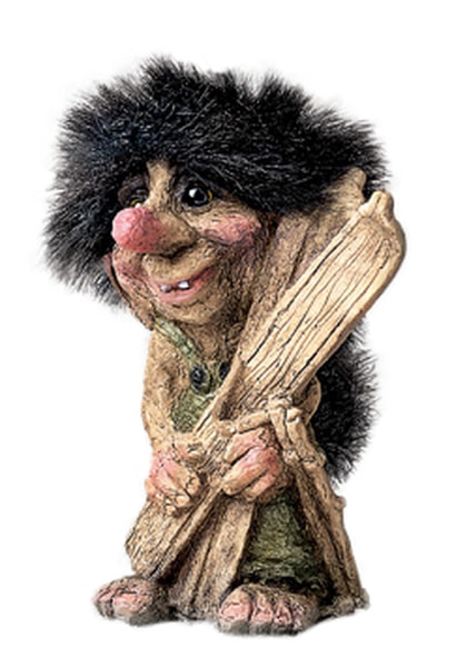 Image of Troll, holding skis (Troll # 311)