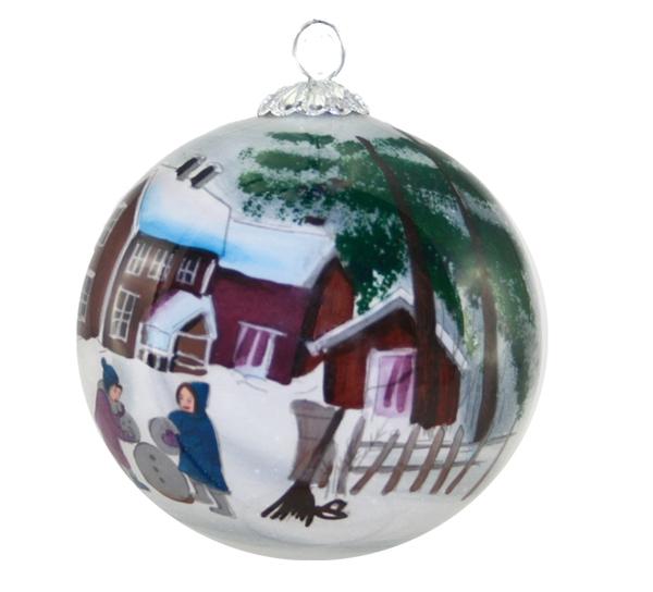 Image of Glass ball, Building snowman, 'Vinterbarn'