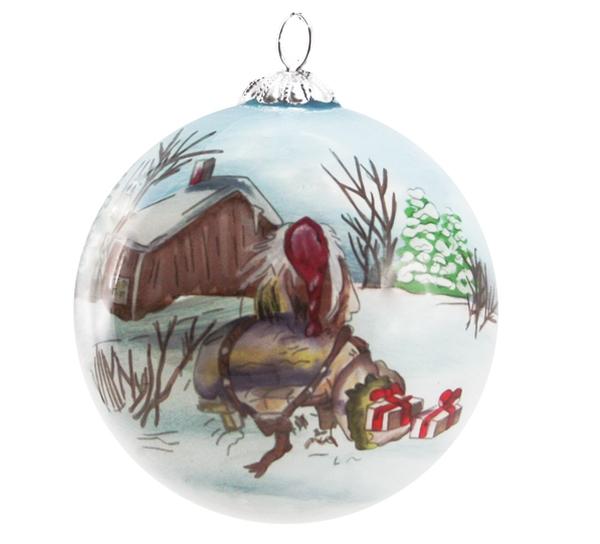 Image of Glass ball, Old santa, 'Gammelnissen'
