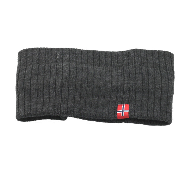Image of Headband knitted with flag grey