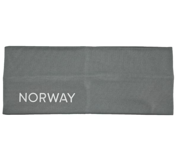 Image of Headband, reflective text; Norway grey/white