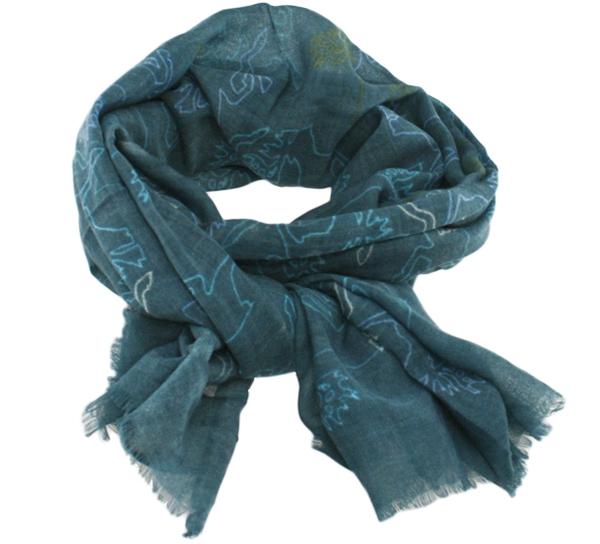 Image of Wool scarf Reindeer grey