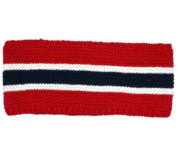 Image of Headband knitted flag stripes red/white/dark blue