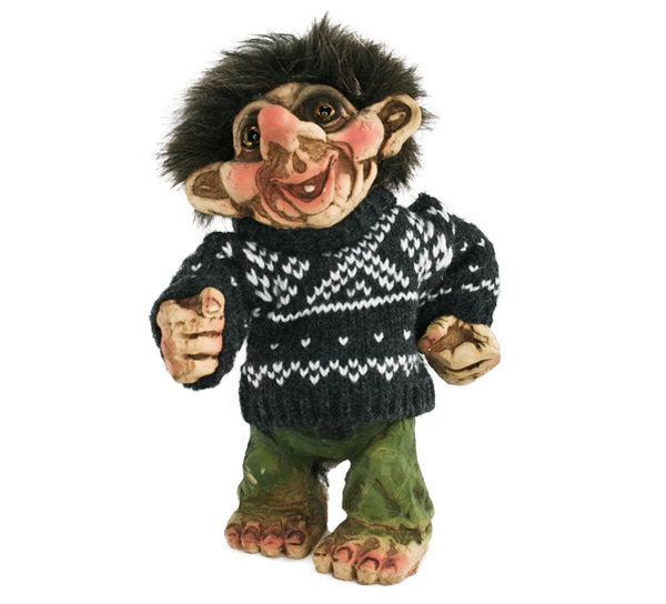 Image of Trol with grey sweater (Troll # 193)