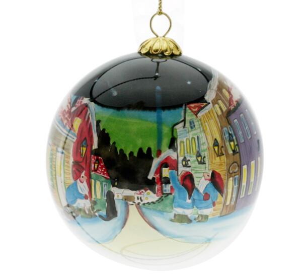 Image of Glass ball, Santas watch the stars