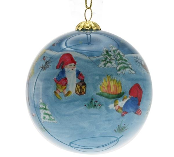 Image of Glass ball, Santas , 'Nisseglede', Toftey