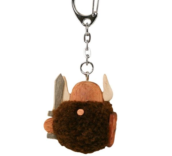 Image of Key chain pompom viking, brown