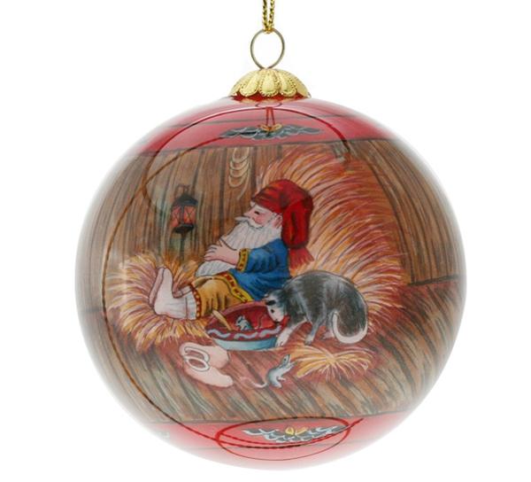 Image of Glass ball, 'Julestemning' Santas