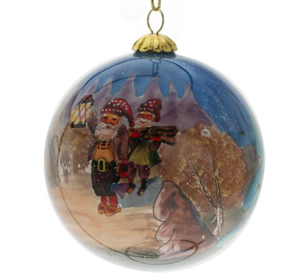 Image of Glass ball, santa with lantern Svein Solem