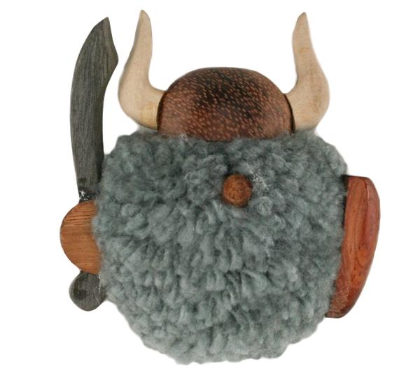 Image of Magnet, pompom viking, grey