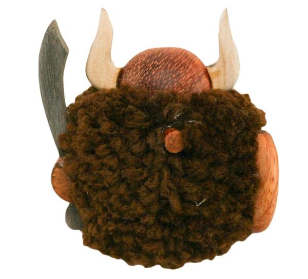 Image of Magnet, pompom viking, brown