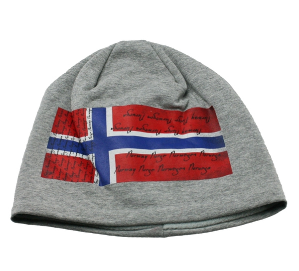 Image of Hat with norwegian flag grey