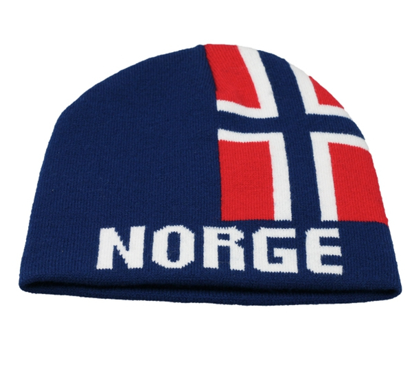 Image of Hat with flag and Norge blue/red/white