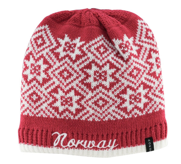 Image of Knitted hat with star pattern and