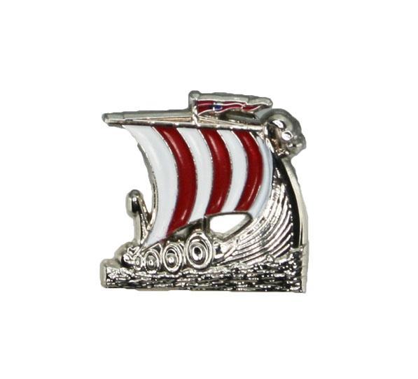 Image of Pin with viking ship