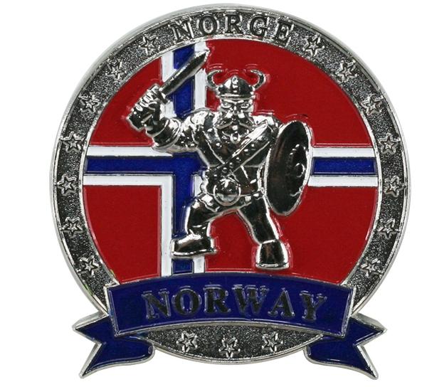 Image of Magnet, metal, silver viking, Norway