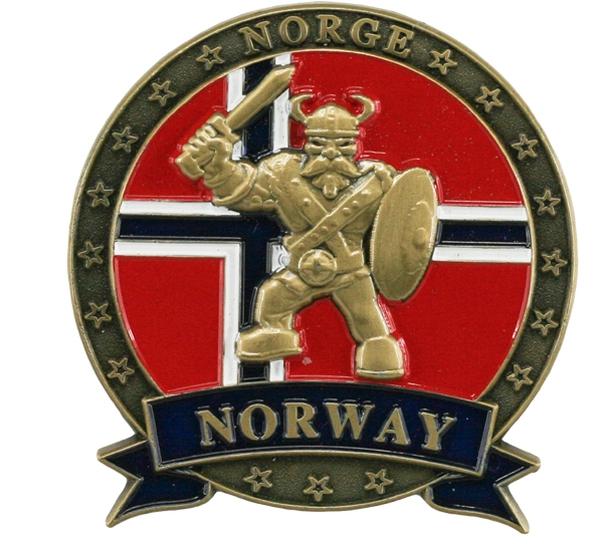 Image of Magnet, metal, gold viking, Norway