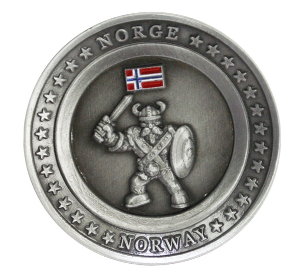 Image of Magnet, round with viking