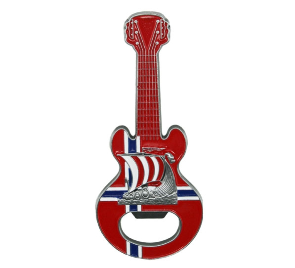 Image of Magnet, guitar with viking ship and bottle opener