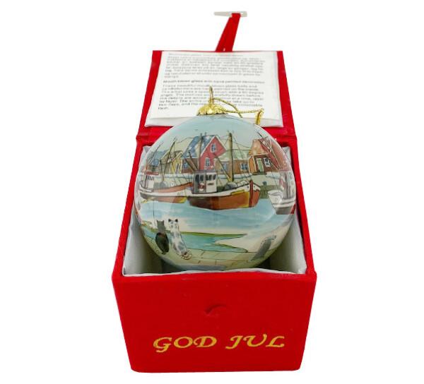 Image of Glass ball, Santas fishing