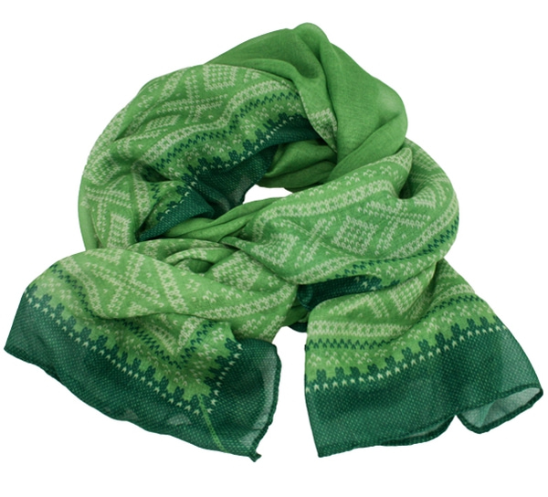 Image of Marius® scarf, light olives/white/green