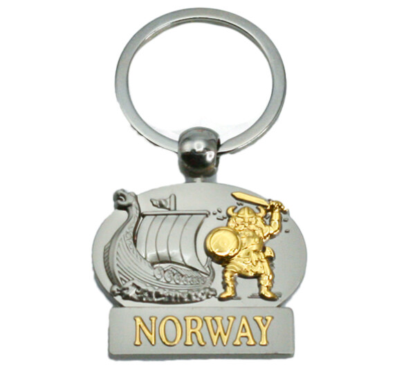 Image of Key chain, viking and ship, Norway