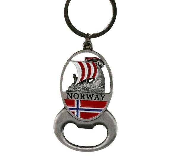 Image of Key chain, silver viking ship