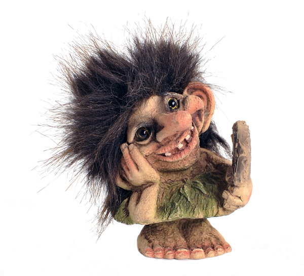 Image of Troll girl w/mirror (Troll # 142)