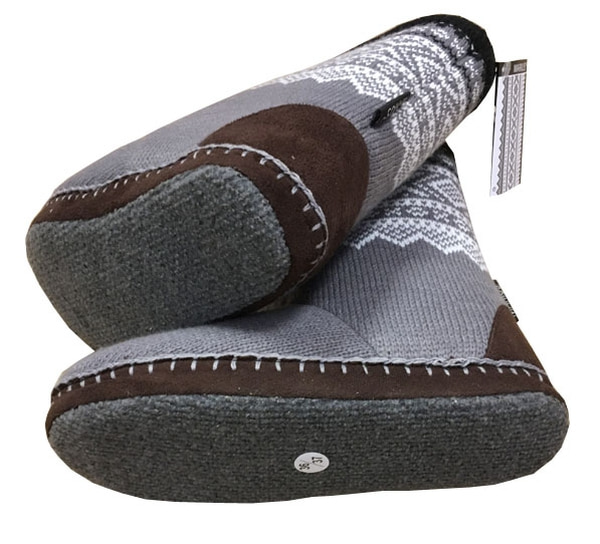 Image of Slippers with Marius® pattern,  Grey