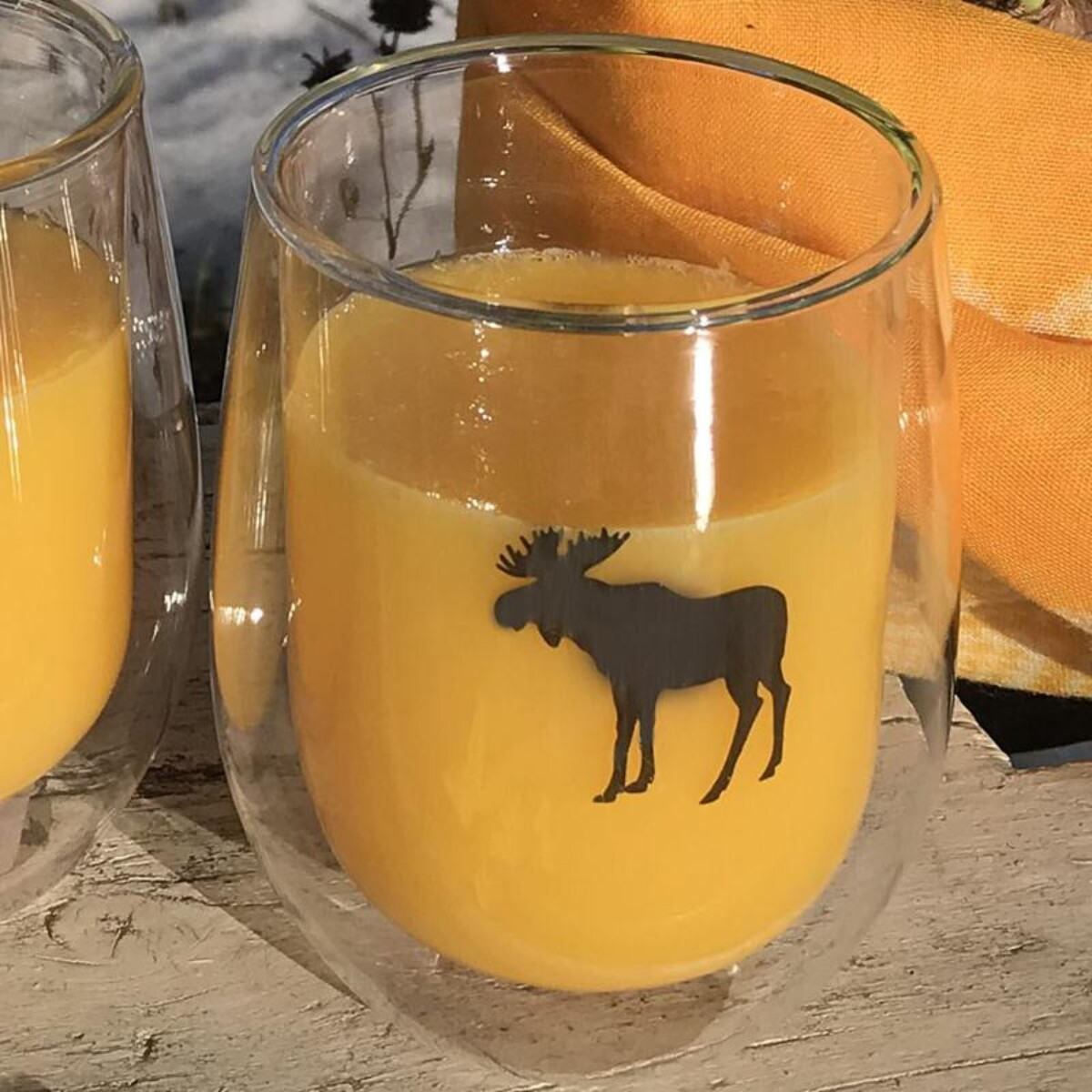 Silver Moose double wall glass