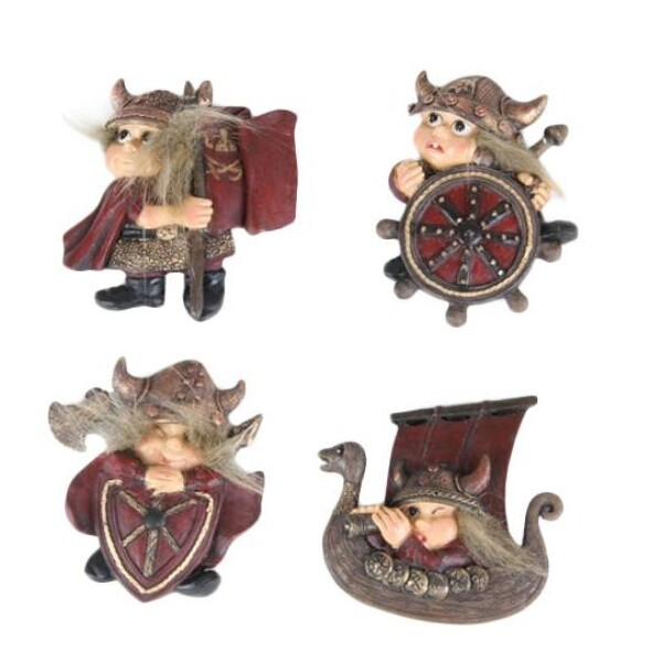 Image of Viking children, magnets, set of 4