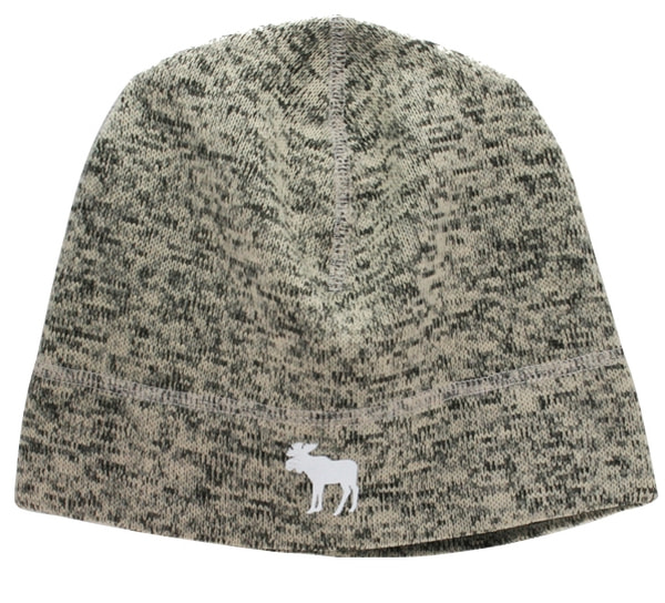 Image of Knitted hat mottled with reflective moose grey