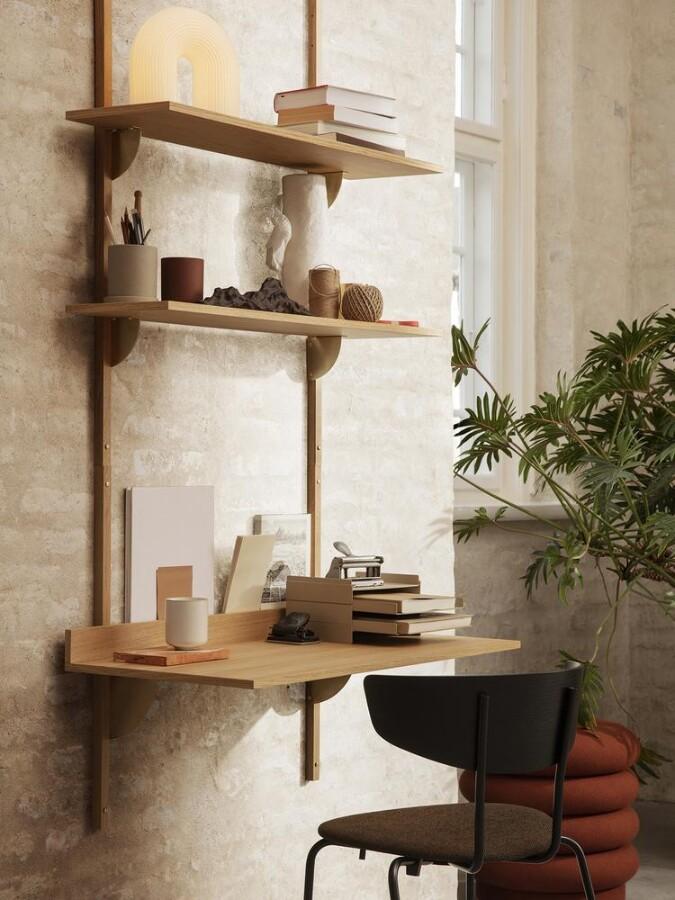 Ferm Living - Sector Skrivebord - Eikefiner/Messing