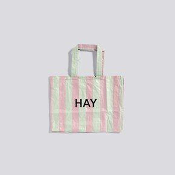 Hay - Candy Stripe Shopper - Green/Red - M