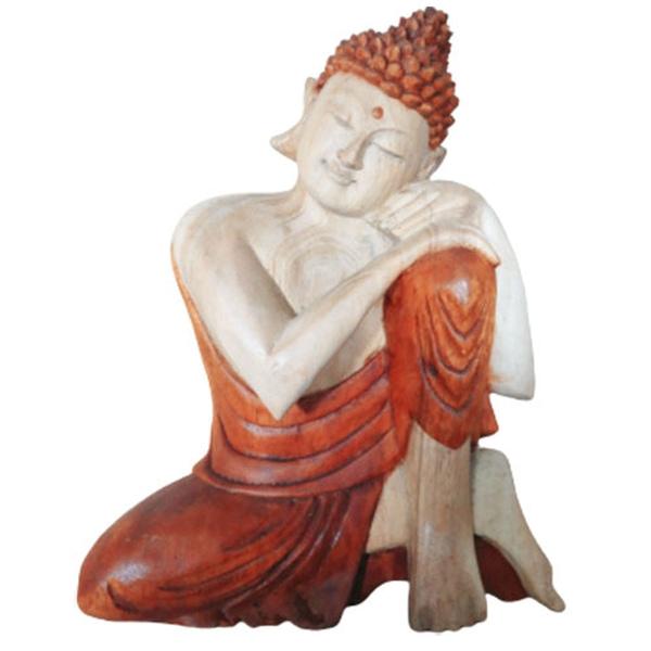 Bilde av Buddha 30cm Utskåret i Tre