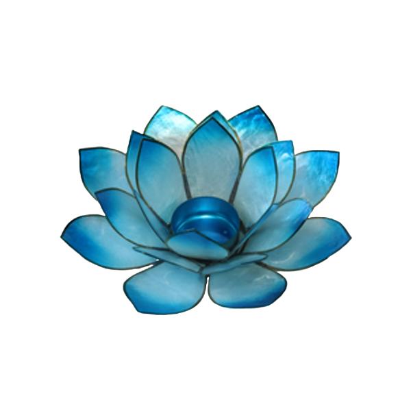 Bilde av Stor Lotus Telysholder Blå -