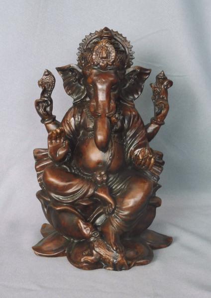 Bilde av Ganesh på Lotus 21cm