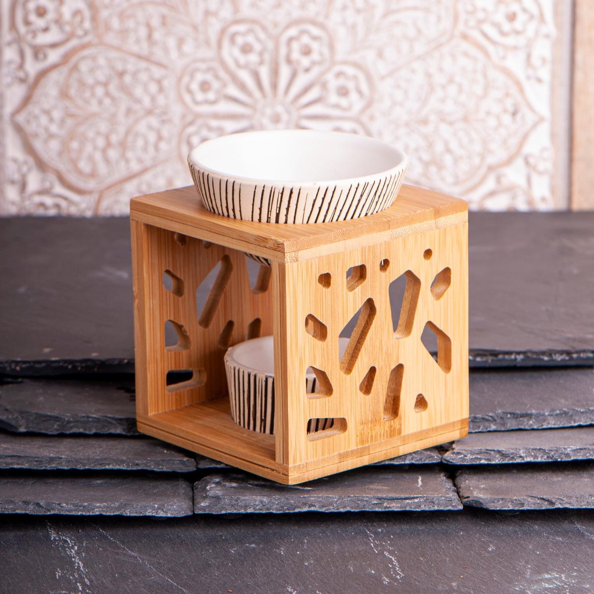 Aromalampe Bambus & Keramikk