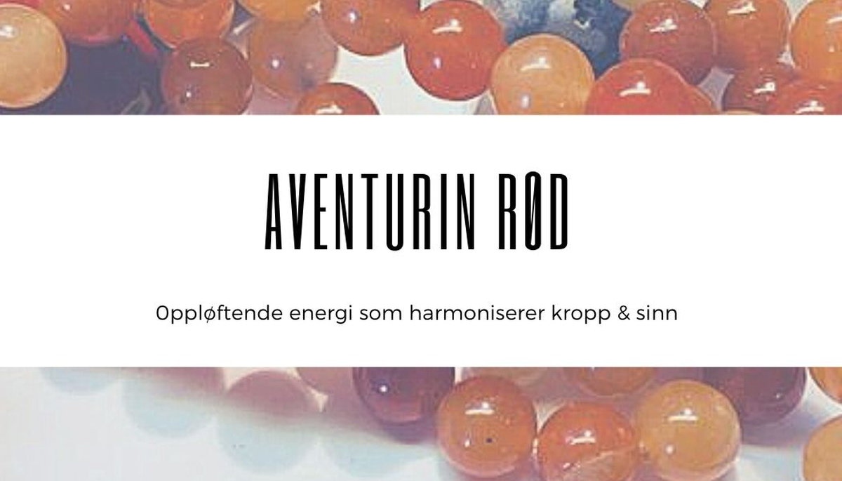 Aventurin Rød Råstein 4-6cm