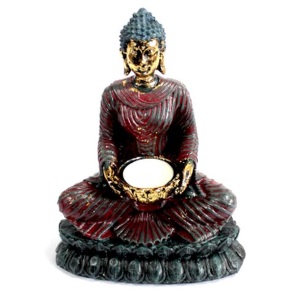Bilde av Antikk Buddha Telysholder