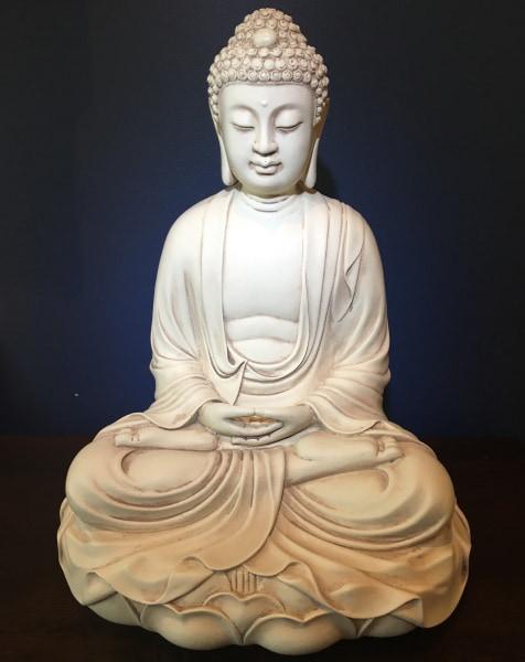 Bilde av Buddha på Lotus - Massiv hvit