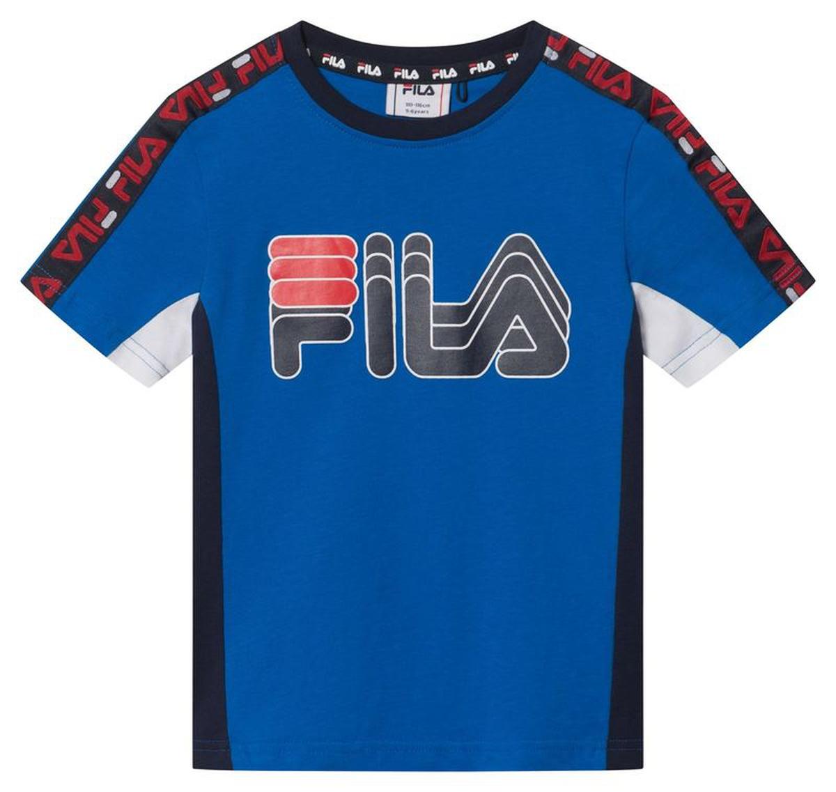 Fila - T-skjorte Kids Boys Dean Blå