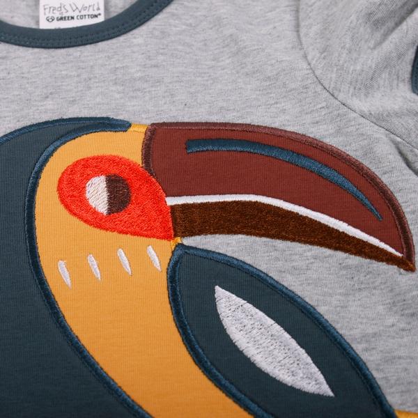 Bilde av Fred's World - T-skjorte Tucan Gråmelert