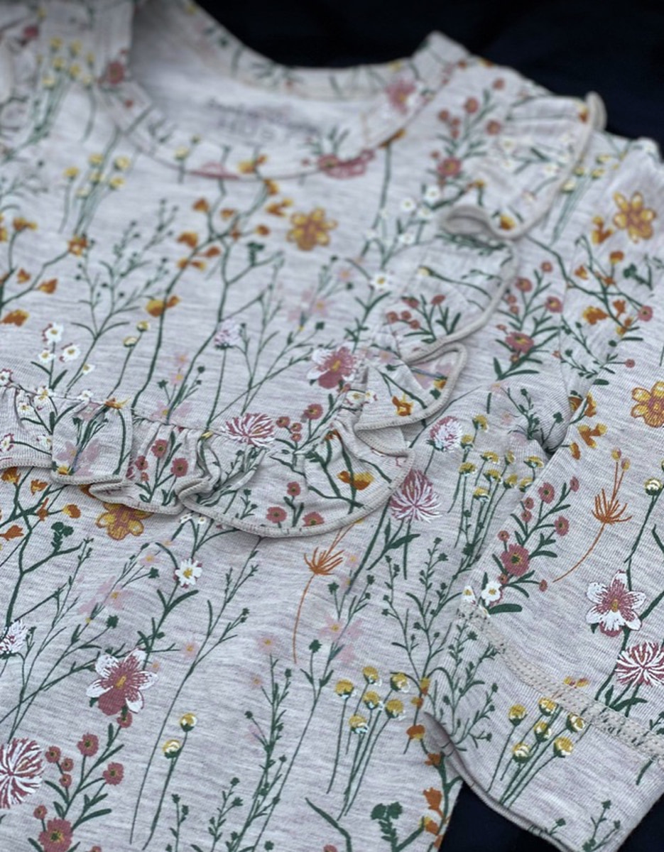 HUST AND CLAIRE - HELDRESS BAMBUS BLOMSTER WHEAT