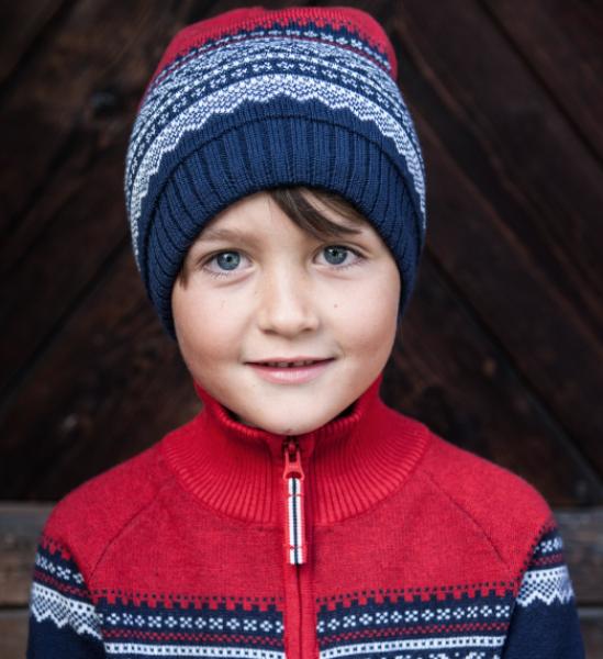 Bilde av Marius Kids - Marius Lue i Ull Mørkeblå
