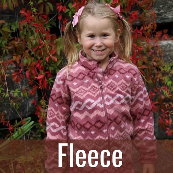 fleece til barn og baby