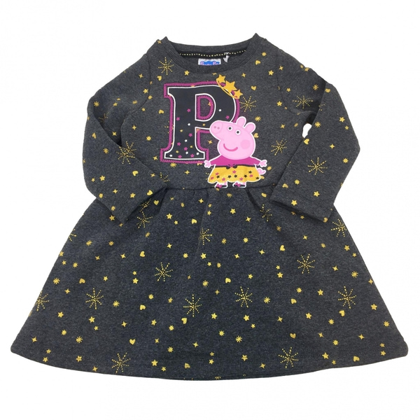 Tykk kjole - Peppa Gris - Koksgrå