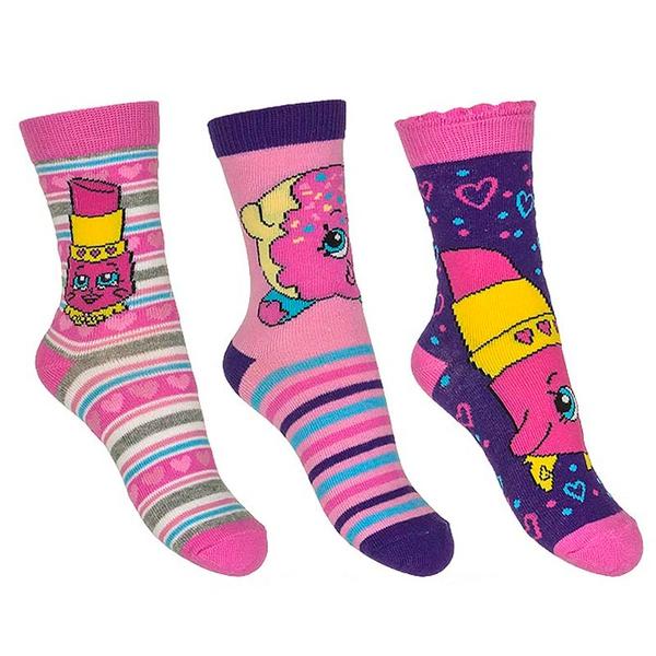 3pk sokker - Shopkins